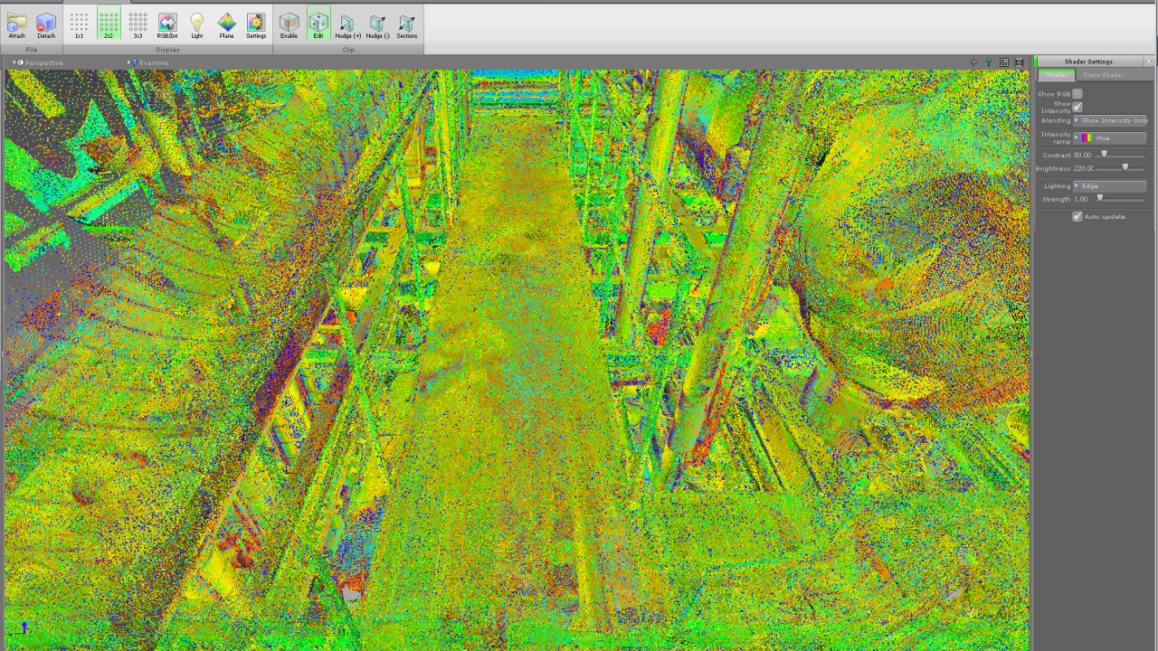 With all points visible point cloud interesting details are hard to recognize