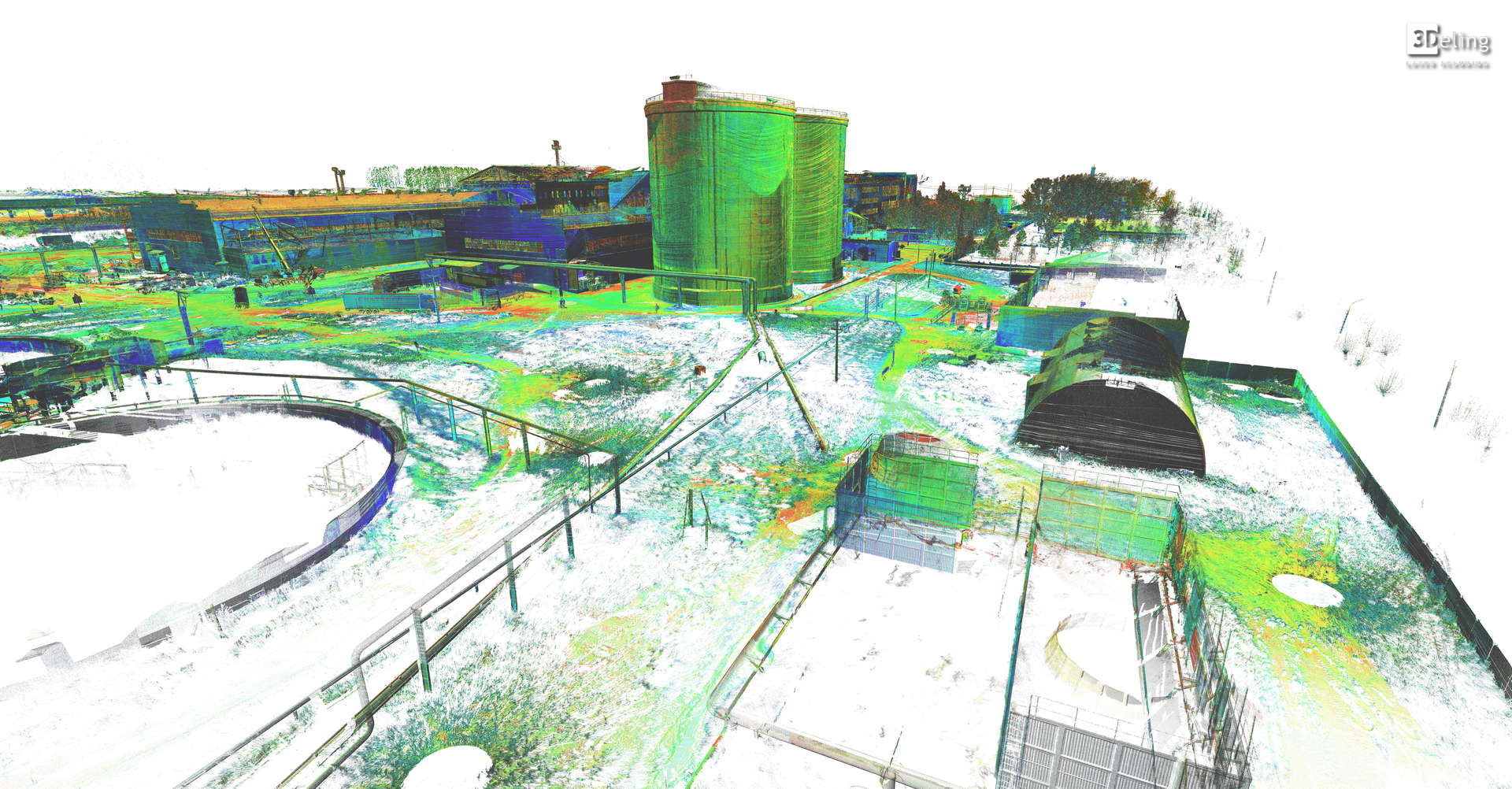 Laser scanning and 3D models of the Orel Sugar Refinery
