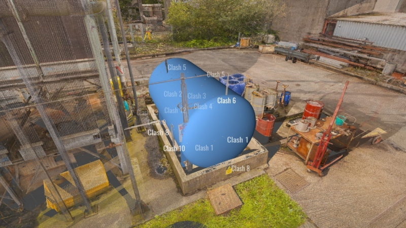 Scotland industrial site – clash detection