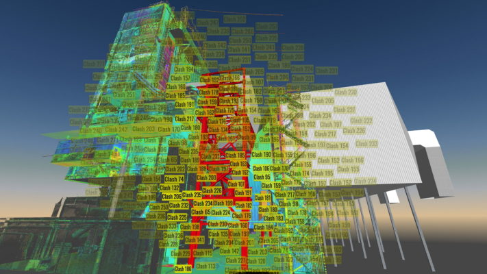 clash detedction analyses in aveva pdms, 3d model and a point cloud