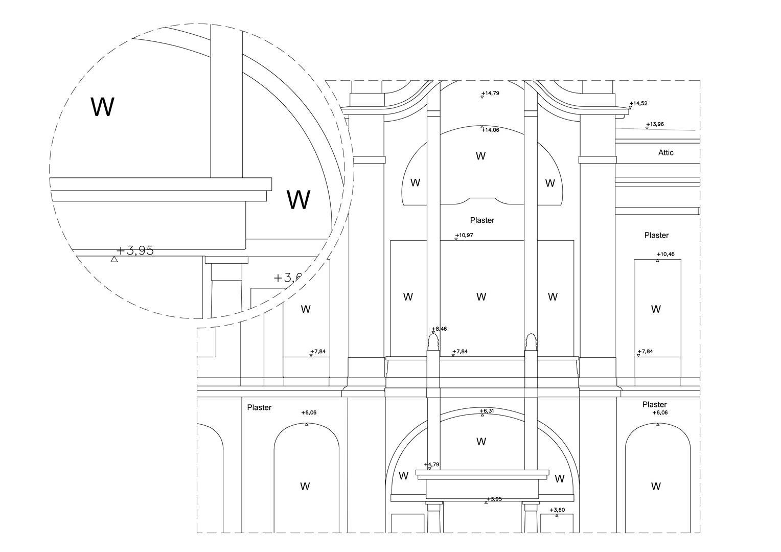 Elevation drawing level of detail 1